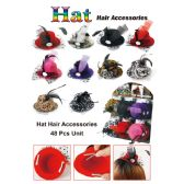 48 Units of 3 HAT HAIR ACCESSORIES - Hair Accessories