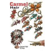 72 Units of CARMEL HAIR ASSORTED FLORAL - Hair Accessories