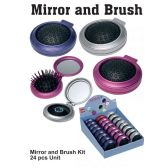 48 Units of MIRROR AND BRUSH HAIR - Hair Accessories