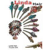 72 Units of LINDA HAIR CLIP FLORAL - Hair Accessories