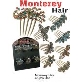48 Units of MONTERREY HAIR PINS ASSORTED STYLE - Hair Accessories