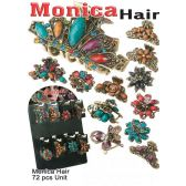 72 Units of MONICA HAIR ASSORTED STYLE - Hair Accessories