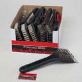 72 Units of Grill Brush 8in In 12pc Counter Display Bbq Hangtag