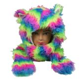 12 Units of WINTER ANIMAL HAT RAINBOW COLORED