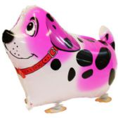 100 Units of WALKING DOG BALLOON IN PINK - Balloons/Balloon Holder