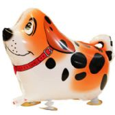100 Units of WALKING DOG BALLOON IN ORANGE - Balloons/Balloon Holder