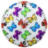 24 Units of BUTTERFLY WALL CLOCK - Clocks