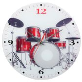 24 Units of WHITE CLOCK WITH DRUMS - Clocks