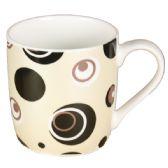 72 Units of COFFEE MUG WITH CIRCLE PATTERN - Coffee Mugs