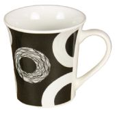 72 Units of COFFEE MUG WITH CIRCLE PATTERN ASSORTED COLORS - Coffee Mugs