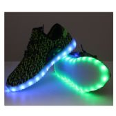 6 Units of LED SHOES ADULT MIX SIZE BLACK SPECKLED WITH GREEN