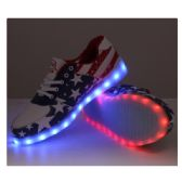 6 Units of LED SHOES ADULT MIX SIZE AMERICAN FLAG STYLE
