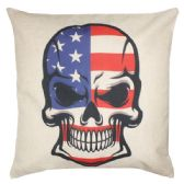 36 Units of PILLOW WITH AMERICAN FLAG SKELETON - Pillows