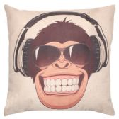 36 Units of PILLOW WITH MONKEY IN HEADPHONES - Pillows