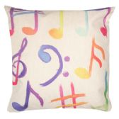 36 Units of HOME FASHION PILLOW WITH COLORFUL MUSIC NOTES