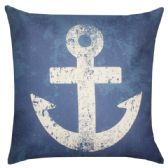 36 Units of HOME FASHION PILLOW IN BLUE WITH ANCHOR