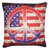 36 Units of HOME FASHION PILLOW AMERICAN PEACE STYLE