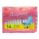 48 Units of Amoray Pads Maxi Regular 14PK