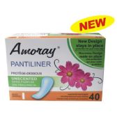 48 Units of Amoray Panty Liner 40CT Unscented