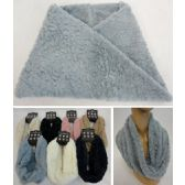 120 Units of Plush Infinity Scarf [Leopard Pattern] - Winter Scarves