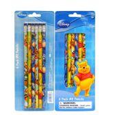 96 Units of Pencil #2 6PK Pooh - Licensed School Supplies