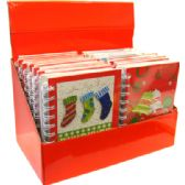 48 Units of Christmas Spiral Notebook 3D 6in by 4in