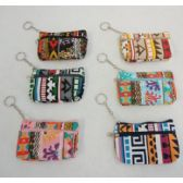 "72 Units of 5""x3"" Two-Comp Zippered Change Purse [Printed]"