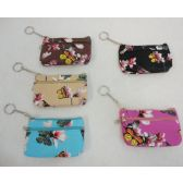 "72 Units of 5""x3."" Two-Comp Zippered Change Purse [Dimpled Butterfly"