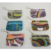 "72 Units of 5""x3.25"" Two-Compartment Zippered Change Purse [Psychedelic]"