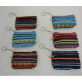 "72 Units of 5""x3.25"" Two-Compartment Zippered Change Purse [Stripes]"