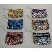 "72 Units of 5""x3.25"" Two-Compartment Zippered Change Purse [Tiger]"