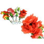 144 Units of 4 Layer 7 Head Flower in Assorted Colors