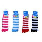 48 Units of Stripe Toe Sock - Women's Toe Sock