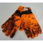 36 Units of Men's Fleece Gloves [Orange Hardwood Camo] - Winter Gloves