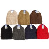 48 Units of Knit Ski Hat-Fur Lining