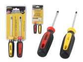 """48 Units of Screwdriver 2"""" 2pc Grey+Yellow - Screwdrivers and Sets"""