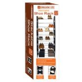 6 Units of 30-Pair Stackable Shoe Rack - Home Accessories