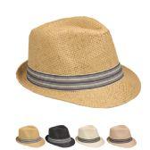 36 Units of Stylish Fedora Hat Assorted Colors