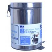 4 Units of 5 Liter Stainless Steel Waste Can - Waste Basket