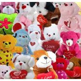 144 Units of Lovey Plush Pre-pack Assortments - Valentines
