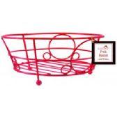 12 Units of Deco Red Fruit Basket - Baskets