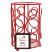 12 Units of Cutlery Caddy Red - Kitchen Cutlery