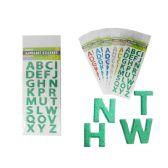 """48 Units of Sticker Alphabet 4.3x9.8"""" 6asst - Stickers"""