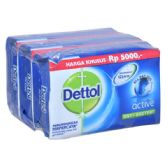 48 Units of Dettol Soap 105g x 3pk Active - Soap & Body Wash