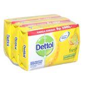 48 Units of Dettol Soap 105g x 3pk Fresh - Soap & Body Wash