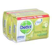 48 Units of Dettol Soap 105g x 3pk Lasting Fresh - Soap & Body Wash