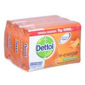 48 Units of Dettol Soap 105g x 3pk Re-energize