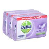 48 Units of Dettol Soap 105g x 3pk Sensitive
