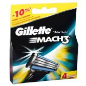 24 Units of Gillette Mach 3 Refill 4PK - Shaving Razors