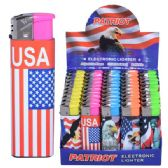 100 Units of Lighter Electronic Patriot - LIghters